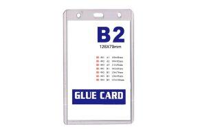 NAME BADGE HOLDER PVC B2 80x120mm SET/20
